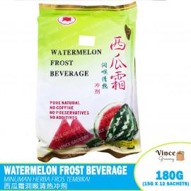 image of RED FLAG BRAND Watermelon Frost Beverage | 红旗牌西瓜霜润喉清热冲剂 15G X 12'S