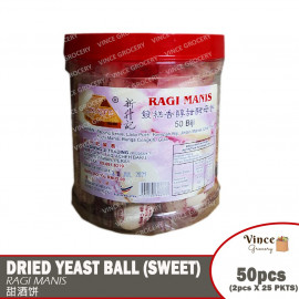 image of Dried Yeast Ball (Sweet) | Ragi Manis | 甜酒饼 50PCS
