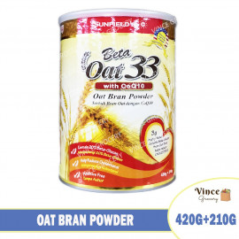 image of SUNFIELD'S Beta Oat 33 with CoQ10 Oat Bran Powder 420G+210G