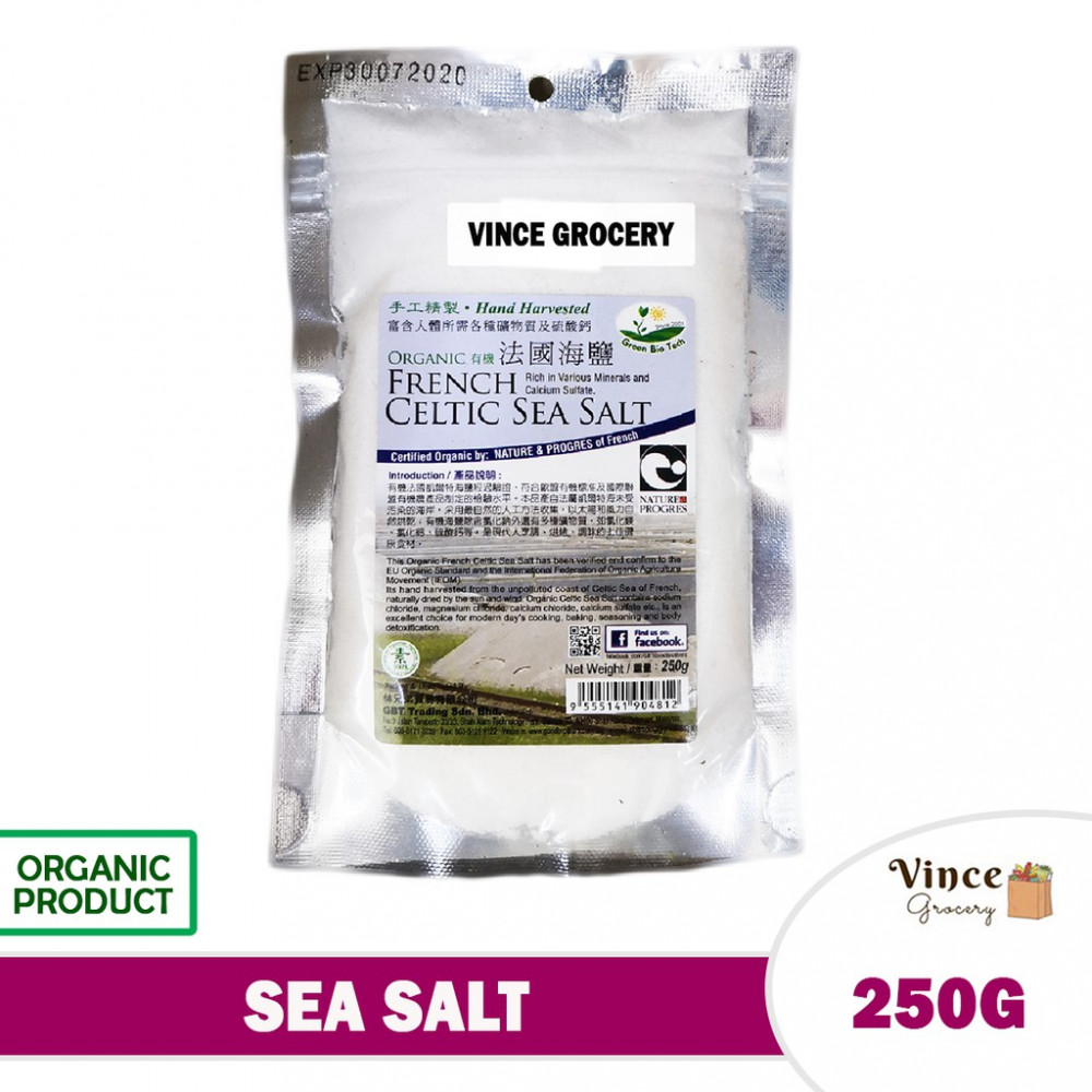 GREEN BIO TECH French Celtic Sea Salt 250G