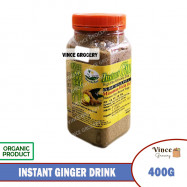 image of GREEN BIO TECH Instant Ginger Drink with Raw Honey & Brown Sugar 蜂王姜汁 400G