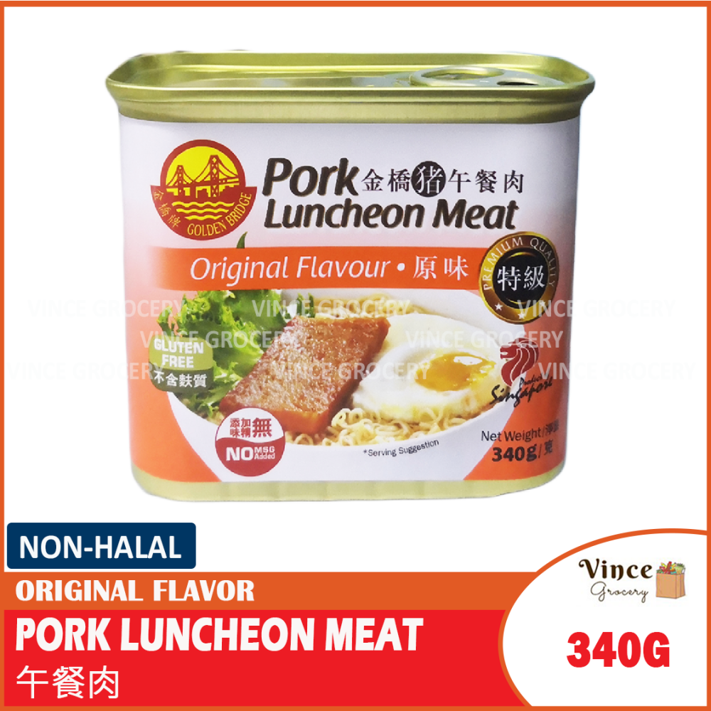 GOLDEN BRIDGE Pork Luncheon Meat Original Flavor | 金桥猪午餐肉 原味 340G