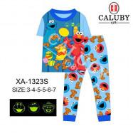 image of Caluby Pyjamas Elmo (Short Sleeves) Kidswear