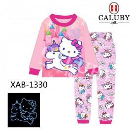 image of Caluby Pyjamas Hello Kitty (Long Sleeves) Kidswear