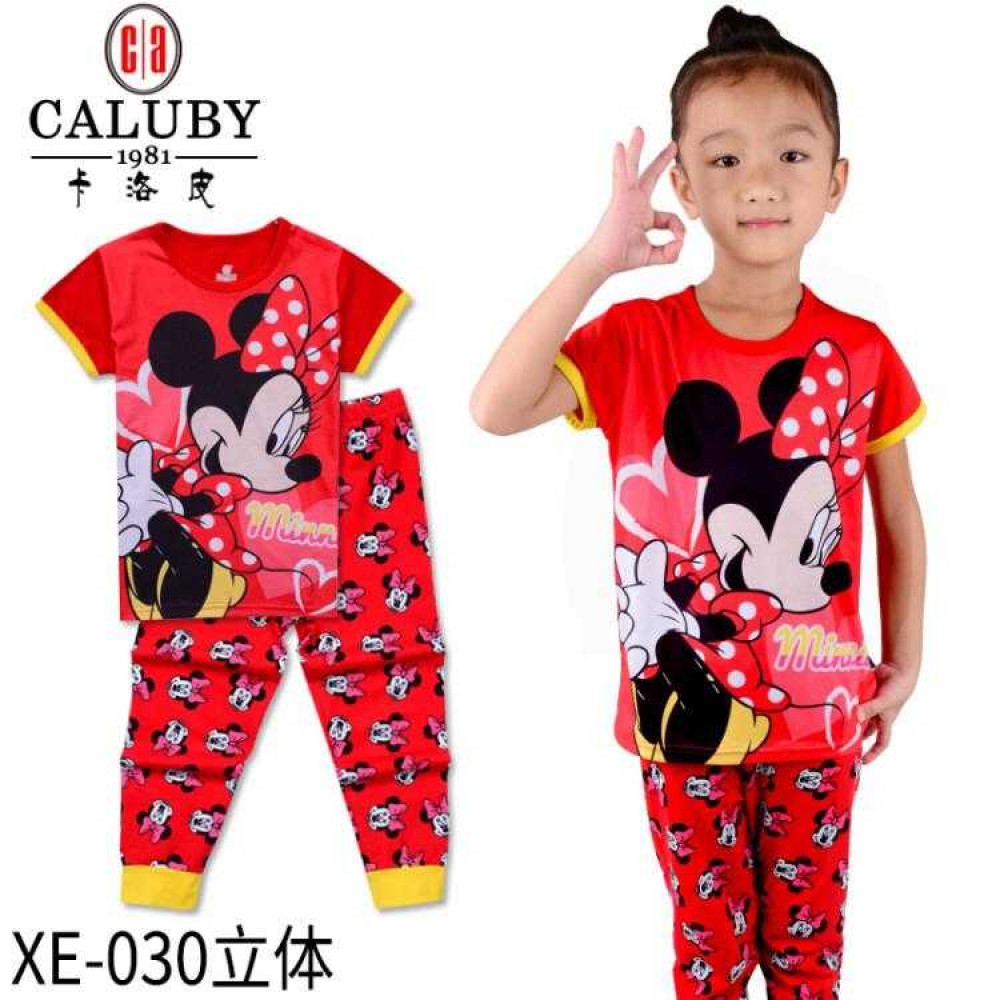 Caluby Pyjamas Minnie Mouse (Short Sleeves) Children Apparel
