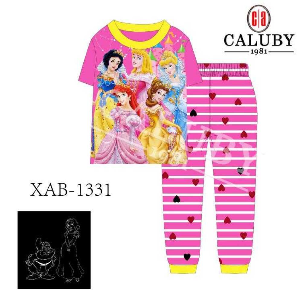 Caluby Pyjamas Snow White (Short Sleeves) Pakaian Budak