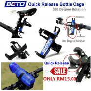 image of BETO Quick Release Bottle Cage 360 Degree Rotation