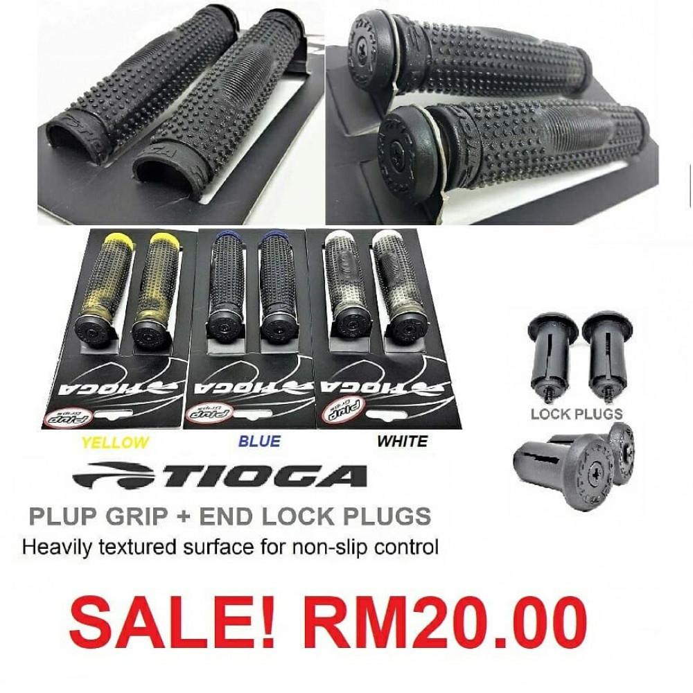 Tioga Plup Grips + Bar End Locking Plugs