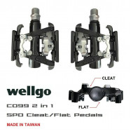 image of Wellgo C099 2 in 1 - SPD Cleat/Flat Pedals