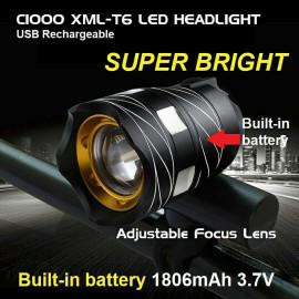 image of C1000 XML-T6 LED HEADLIGHT