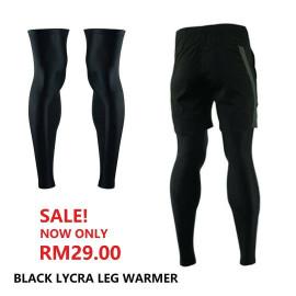 image of BLACK LYCRA LEG WARMERS
