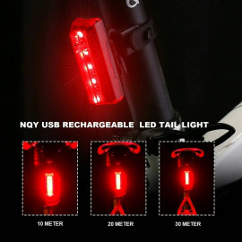 image of NQY USB RECHARGEABLE LED TAIL LIGHT