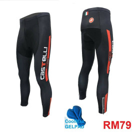 image of CYCLING LONG PANTS WITH GEL PAD - CASTI