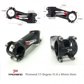 image of Promend 17-Degree 31.8 x 90mm Stem black/red