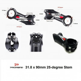 image of Promend 25-Degree 31.8 x 90mm Stem black/red