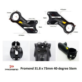 image of Promend 40-Degree 31.8 x 73mm Stem black/yellow