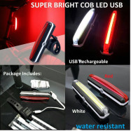image of SUPER BRIGHT COB LED USB Rechargeable Bicycle Rear Light