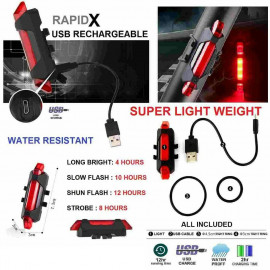 image of RAPID-X RECHARGEABLE USB LED REAR LIGHT