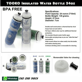 image of TOOKO Insulated BPA FREE Bottle 24oz