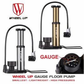image of WHEEL UP PORTABLE GAUGE FLOOR PUMP