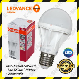 image of OSRAM 9.5W A60 LED BULB DAYLIGHT WARMWHITE E27 750LUMEN MENTOL LED OSRAM E27