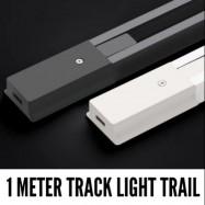 image of 1 METER TRACK LIGHT TRAIL TRACK JOIN L/I JOIN WHITE/BK (FULL COPPER)