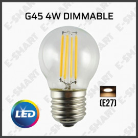 image of G45 2700K WARMWHITE DIMMABLE/NON-DIMMABLE LED EDISON FILAMENT BULB (E27)