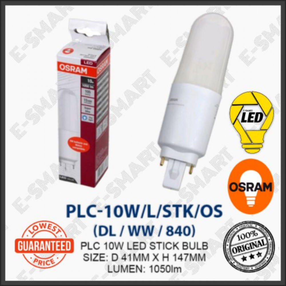 OSRAM PL-C LED STICK 10W DAYLIGHT COOLWHITE WARMWHITE (G24) MENTOL LED PLC