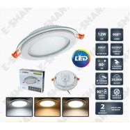 image of 4INCH 12W GLASS FRAME LED DOWNLIGHT ROUND [SURGE PROTECTED] 2 YEARS WARRANTY