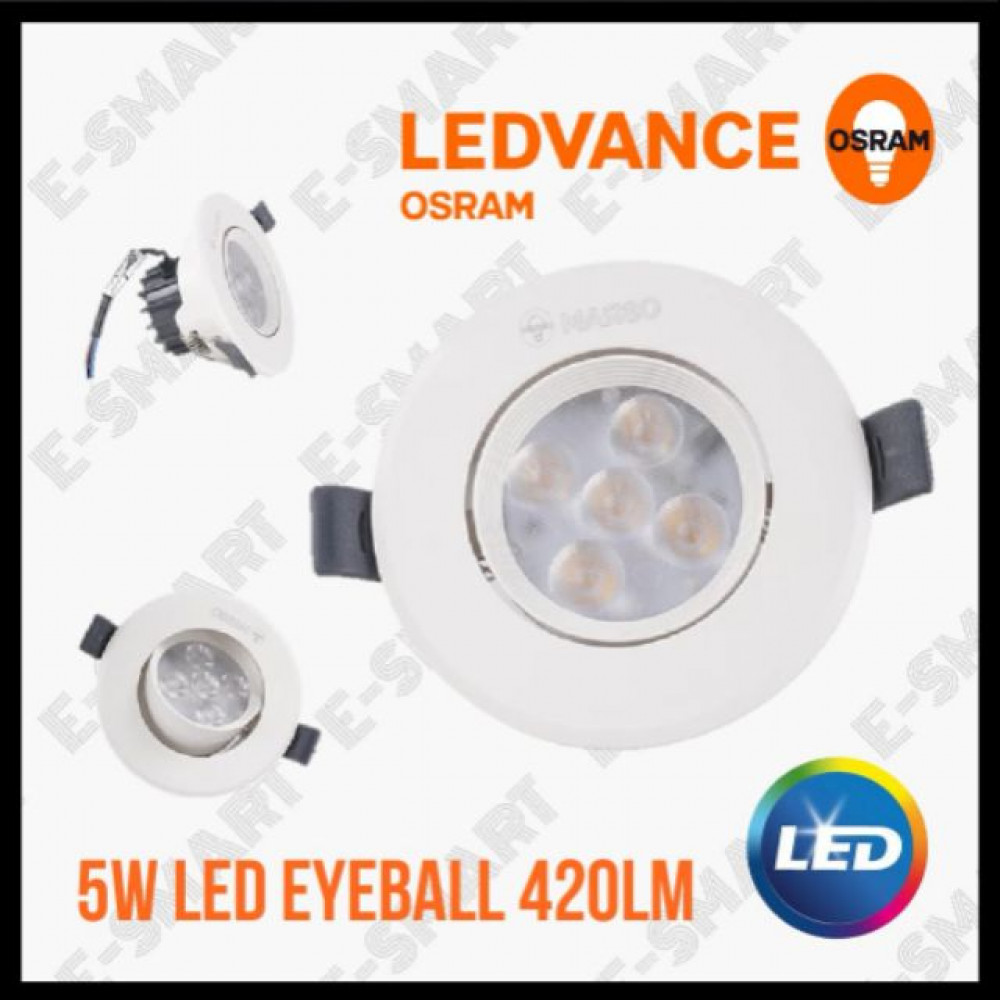 OSRAM LED EYEBALL SPOTLIGHT 5W 3000K 24D° WARMWHITE