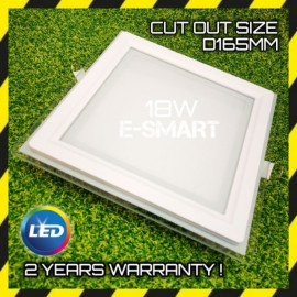 image of 6INCH 18W GLASS FRAME LED Downlight/LED DOWNLIGHT ROUND/SQUARE (2Year Warranty)