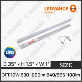 image of OSRAM LED T5 10W 3FT 3000K/6500K (ENERGY SAVING) LEDVANCE