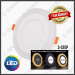 6INCH 3STEP 12W+4W LED DOWNLIGHT RND/SQR [DL+WW] [DL+BL] ENERGY SAVER