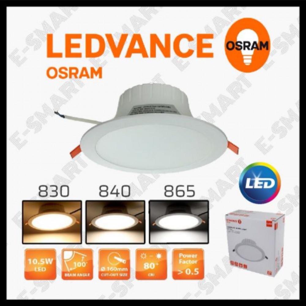 """OSRAM LED DOWNLIGHT 10.5W 6"""" 830 840 865 LEDVALUE DOWNLIGHT"""