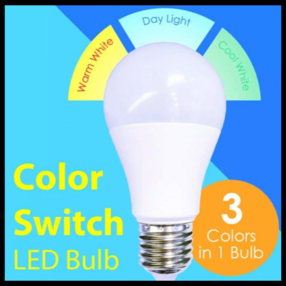NEW* FFL LED COLOR SWITCH BULB 10W E27 3COLOUR SCENE SWITCH LED BULB (E27)