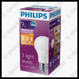 image of PHILIPS SCENE SWITCH A60 3STEP 9-70W E27 3000K/6500K WWHITE/DAYLIGHT MENTOL LED