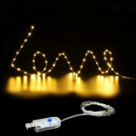 E-SMART 10METER X USB LED STRING LIGHT REMOTE CONTROL DIMMABLE (WARM WHITE)