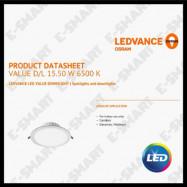 """image of OSRAM LED DOWNLIGHT 15.5W 8"""" 830 840 865 LEDVALUE DOWNLIGHT"""