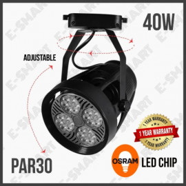 image of PAR30 40W LED TRACK LIGHT BLACK 3000K/4000K/6500K (SUPER BRIGHT)
