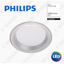 image of PHILIPS 30598 RECESSED LED DOWNLIGHT SILVER 10W 6500K