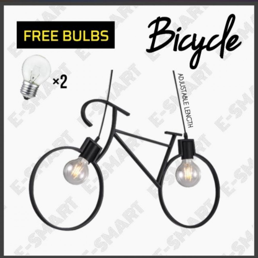 E-SMART BICYCLE PENDANT LIGHT (E27X2) FREE BULBS