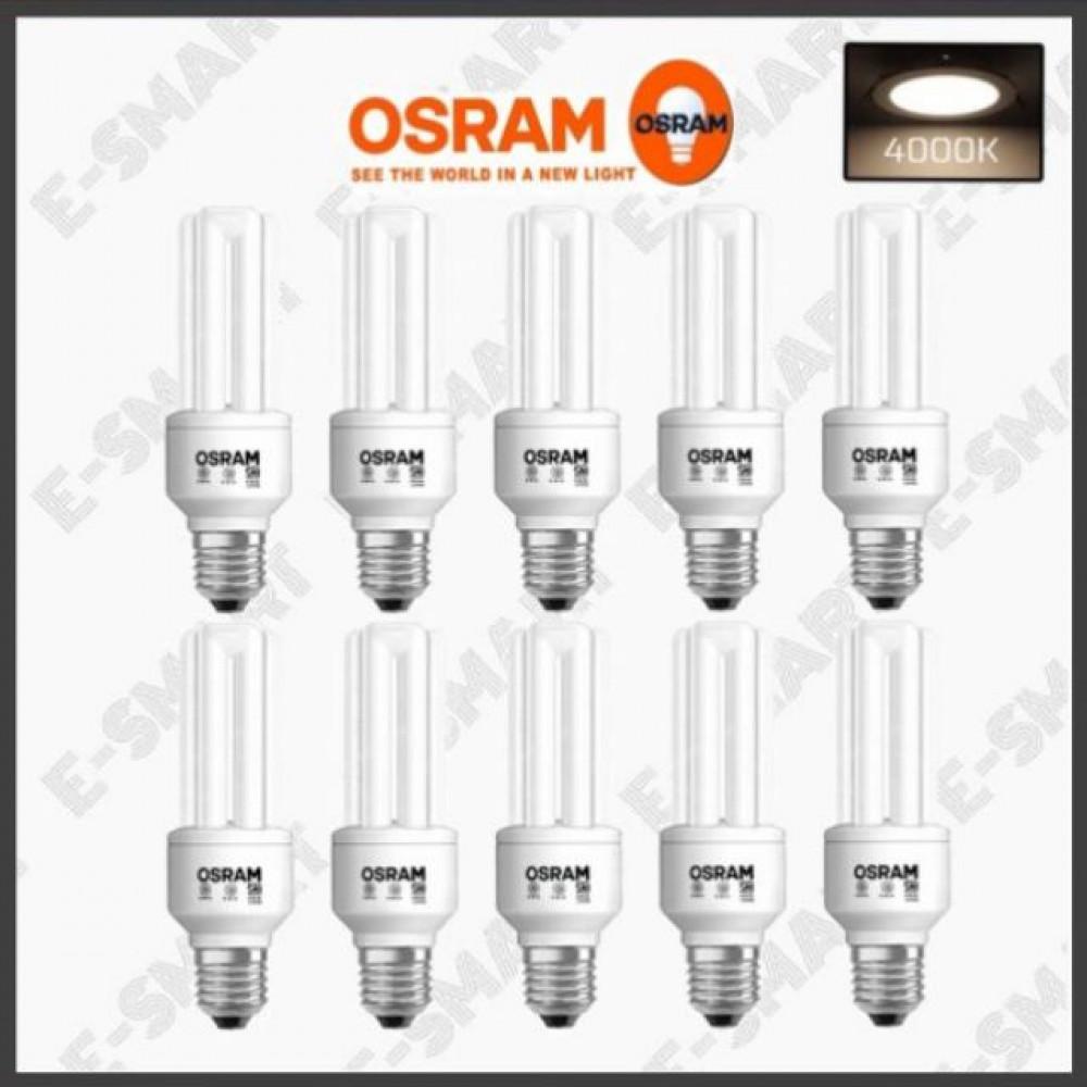 10PCS X GENUINE OSRAM ENERGY SAVER 18W (3U) 4000K COOLWHITE