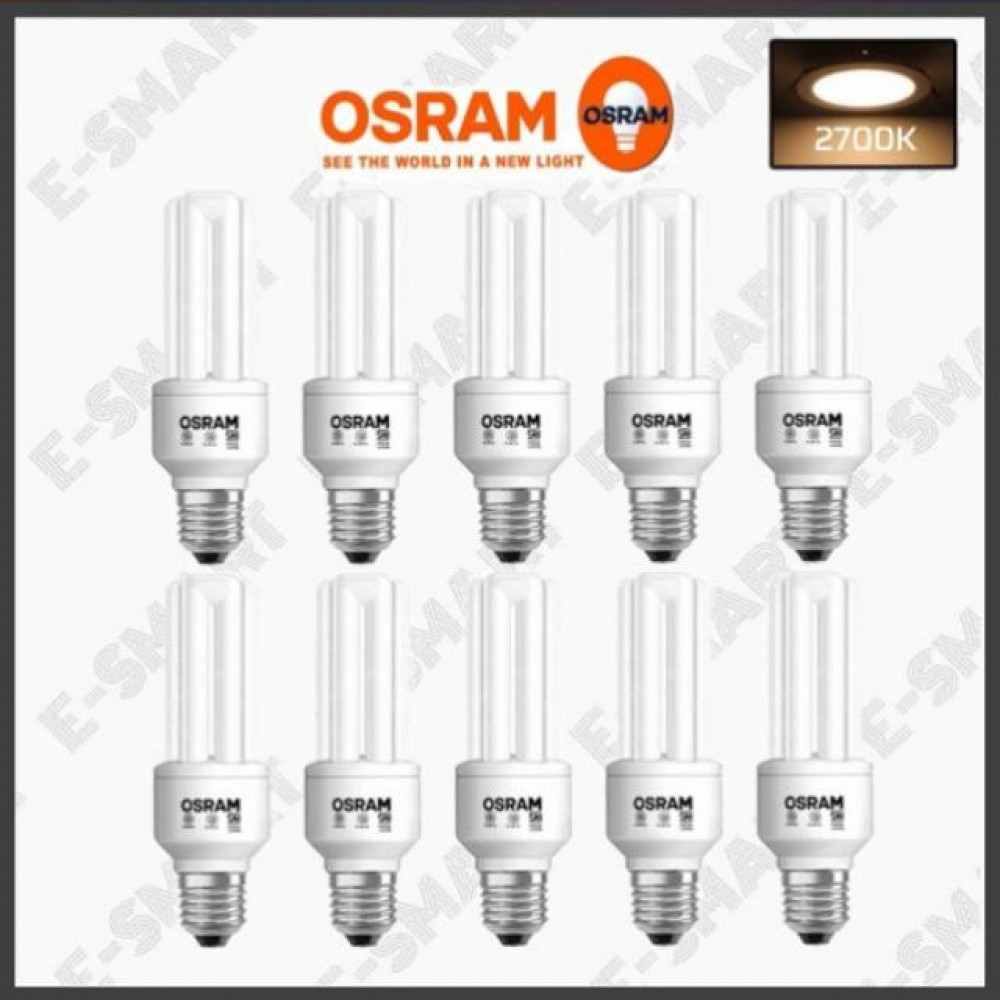 10PCS X GENUINE OSRAM ENERGY SAVER 18W (3U) 2700K WARMWHITE
