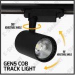 E-SMART SET OF 4 - 1 METER TRACK RAIL WITH 3x 12W COB TRACK LIGHT SPORT LIGHT