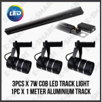 E-SMART SET OF 4 - 1METER TRACK RAIL WITH 3x 7W COB TRACK LIGHT 3000K WARMWHITE