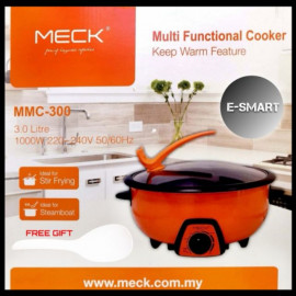 image of MECK MMC-300 3LITRE MULTI FUNCTIONAL COOKER 1000W MULTI COOKER (FREE BIG SPOON)