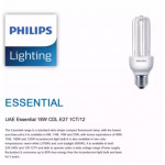 12PCS X PHILIPS PLCE ESSENTIAL 18W E27 WARM WHITE 2700K / DAYLIGHT 6500K (1 BOX)