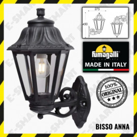 image of FUMAGALI BISSO ANNA WALL LIGHT BLACK CLEAR/ WHITE CLEAR IP44 OUTDOOR WALL LIGHT