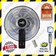 image of Mava 16inch 5-Blade Remote Control Wall Fan (5Stars Rating) Kipas Dinding