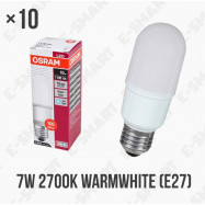 image of 10PCS x OSRAM LED VALUE STICK BULB 7W E27 220-240V WARM WHITE